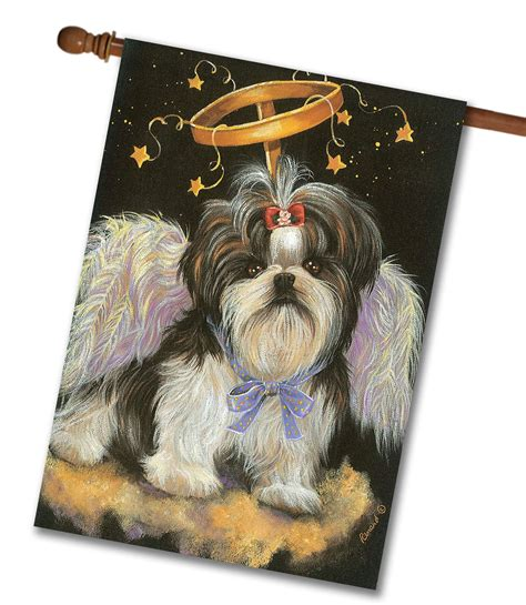 shih tzu house shih tzu house flag 28 x 40 custom printed flags flagology