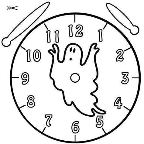 Kostenlose Vorlage Uhr Kostenlose Malvorlage Uhrzeit Lernen Ausmalbild Geist Zum Ausmalen