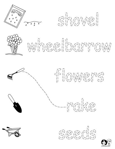 meaning of activities of gardening worksheets for printout activities for children