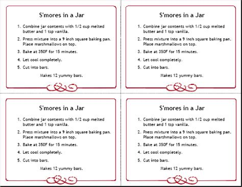 free printable recipe cards gifts jar holiday gifts 8 homemade gifts in a jar with free