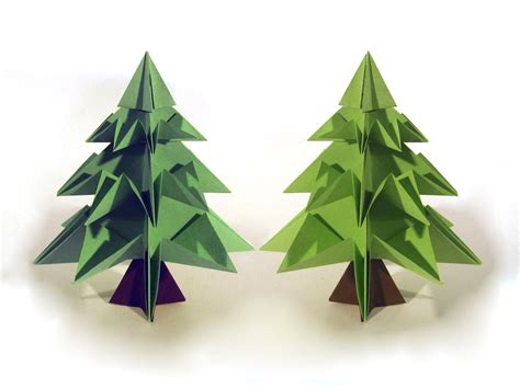 christmas tree paper folding origami tree origami how to make an origami tree