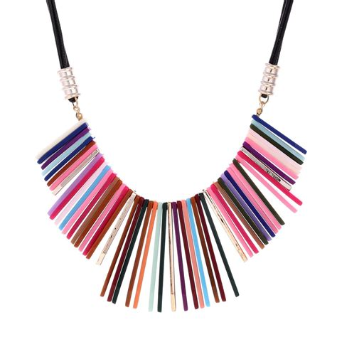 8 And Colorful Necklaces by Zoshi Necklace Statement Sweater Chain Necklaces