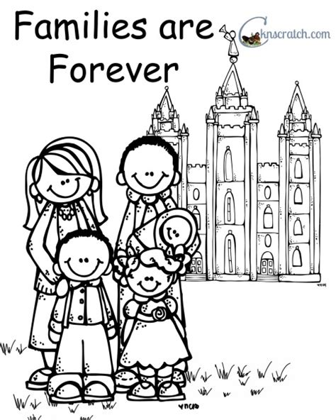 lds coloring pages families can be together forever behold your little ones lesson 13 my family can be