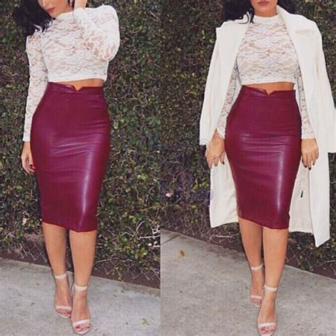 Dress Rajut Bodycon how to wear a faux leather skirt lighten tone