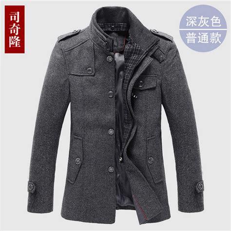Pea Coat Winter Coat Trench Coat Jacket Coat Coat Pria Blc 8 mens grey pea coat winter clothing brand wool trench coats single breasted jacket