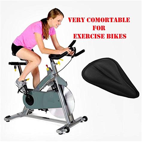 comfortable exercise bike exercise bike gel seat cover durable soft black saddle