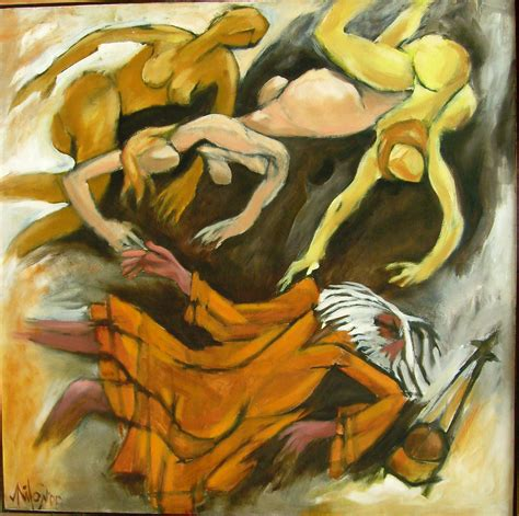 Drawing Or Painting by Buy Contemporary Painting Falling Baul