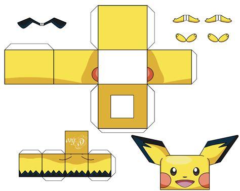 Pikachu Papercraft - papercraft pichu images images