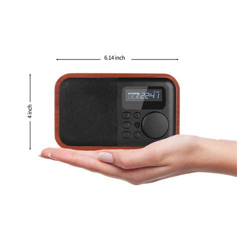 Speaker Mp3 Radio wooden digital speaker bluetooth fm radio with alarm clock