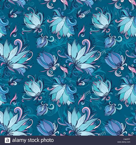 free lotus background pattern blue lotus vector pattern seamless vector texture with