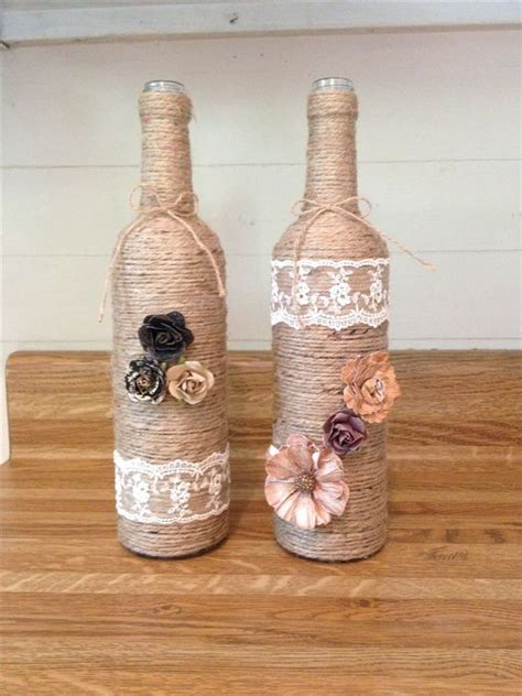 diy twine wine bottles home decor on a budget projects