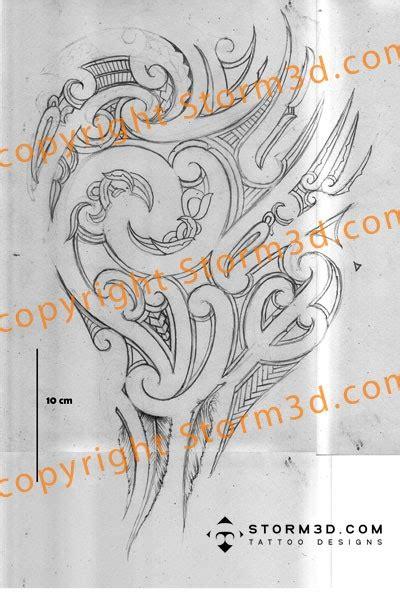 mauri tattoo design pencil sketch of a mauri style shoulder tatou