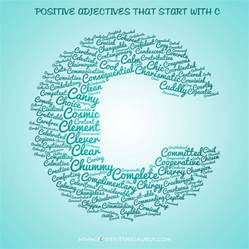 candid list of positive adjectives that start with c