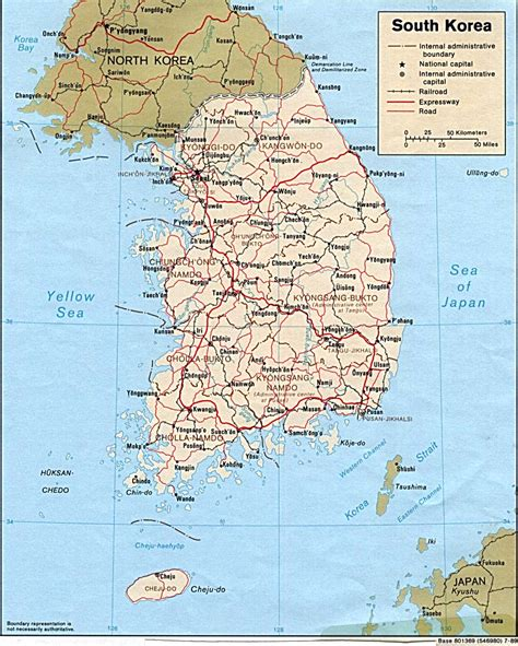 korea physical map november 2009 free printable maps