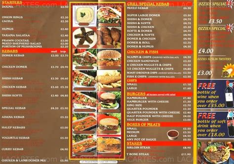 burger house menu 1 of 2 price lists menus empire kebab burger house croydon kebabs burgers