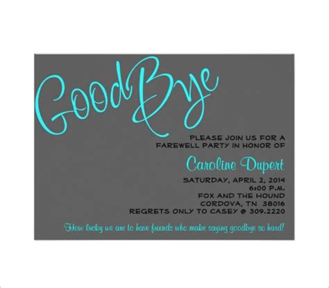 farewell card template free farewell card template 18 free printable sle