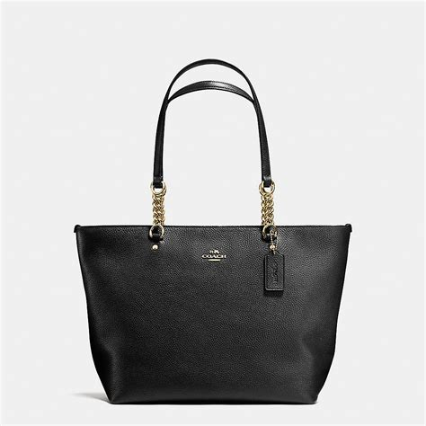 Coach Pabbled Leather Tote coach designer totes tote in pebble leather