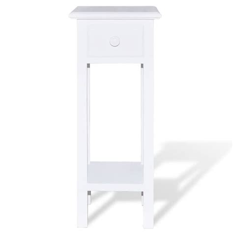 white side table with drawer vidaxl co uk white telephone side table with drawer