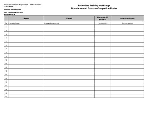 sign in roster template sign in sign out sheet template
