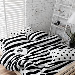 black and white striped duvet covers soft cotton polka dot and stripe bedding sets white black