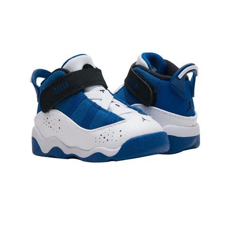 toddler jordans shoes toddler 6 rings shoe blue white