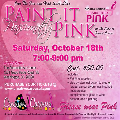 Creative Carousal Paint And Sip 187 Cc Events Breast Cancer Fundraiser Flyer Templates Free