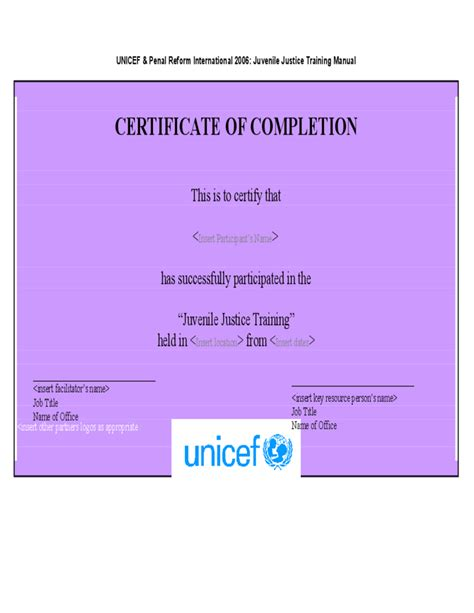 blank certificate of completion templates free blank certificate of completion template free