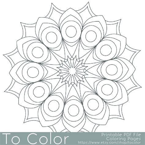 simple mandala coloring pages pdf printable circular mandala easy coloring pages for adults