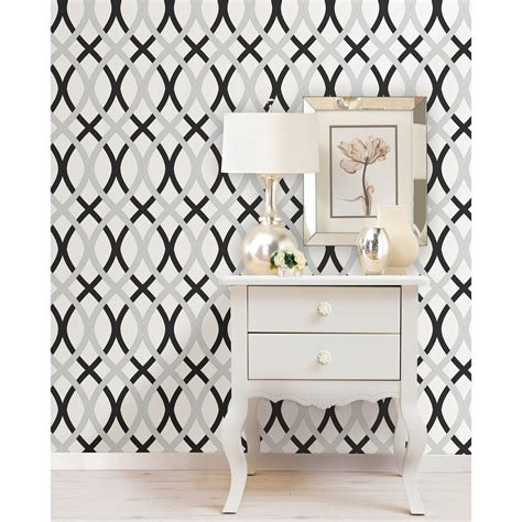 cool black peel and stick wallpaper brewster black and silver lattice peel and stick wallpaper
