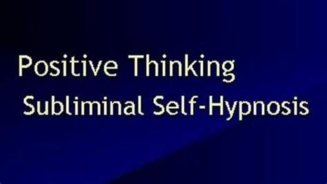 nlp amnesia pattern subliminal positive thinking self hypnosis video