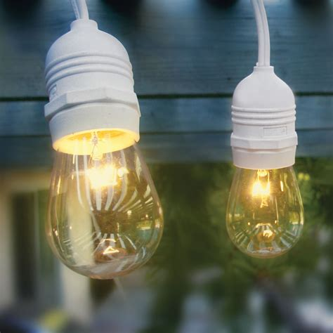 commercial patio lights 24 socket heavy duty commercial outdoor string light kit w a15 standard bulbs 56ft white