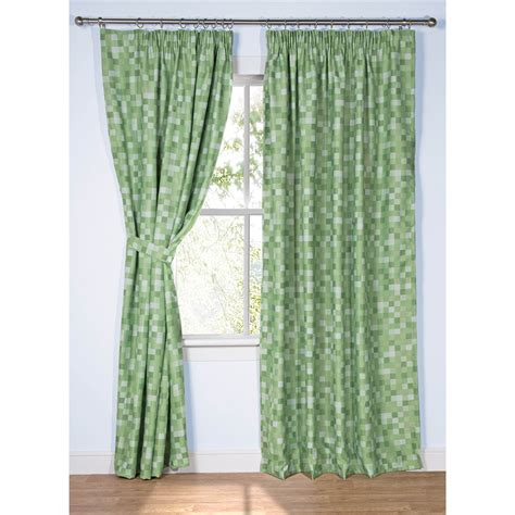 Ready Made Curtains Inspired by Minecraft   Pixel Green Blackout