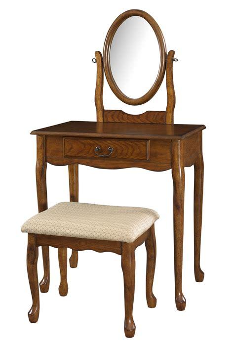 mirror bench powell brown woodland oak vanity mirror and bench