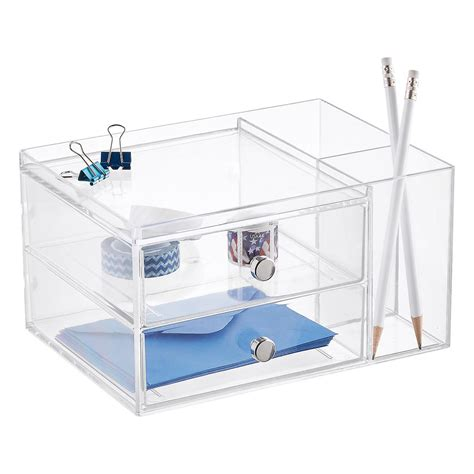 2 Drawer Desk Organizer The Container Store Container Store Desk Organizer