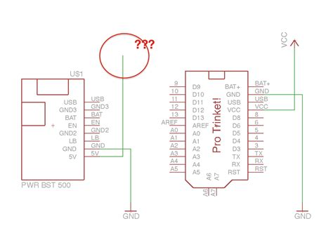 schematics how to draw the input into the vcc net in