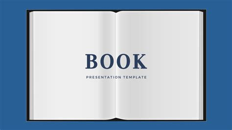 book powerpoint template free presentation theme