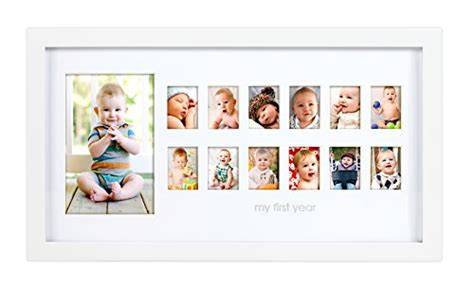 My Year Photo Frame Keepsake Baby pearhead my year photo moments baby keepsake frame