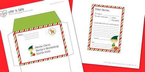 printable letter and envelope from santa letter to santa printable the charm it spot
