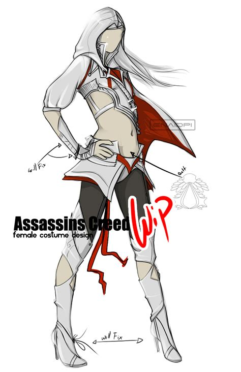 Assassins Creed F Costume Design Wip By Enaidpi On Assassins Creed Designs