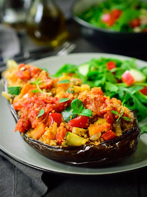 stuffed eggplant vegetarian recipes vegan stuffed eggplant proven 231 al cilantro and citronella