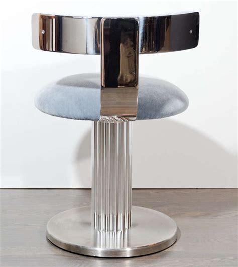 Modernist Klismos Back Swivel Vanity Stool At 1stdibs Swivel Vanity Chair With Back