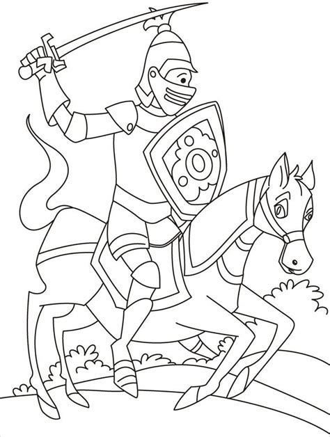 Free Coloring Pages Of Knights Jousting Knights Colouring Pages