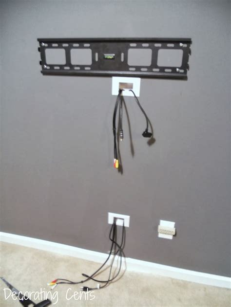 Decorating Ideas To Hide Wires 17 Best Ideas About Hide Cable Cords On Wall