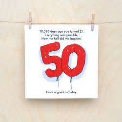 what to say on 50th birthday card 50th birthday card 50th card age card