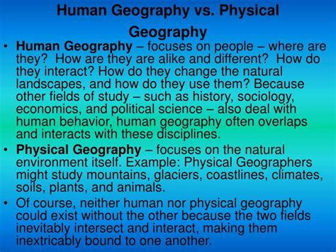 Physical Landscape Definition Human Geography Ppt Unit One Powerpoint Presentation Id 3947621