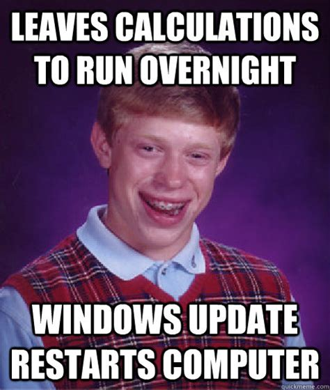 leaves calculations to run overnight windows update