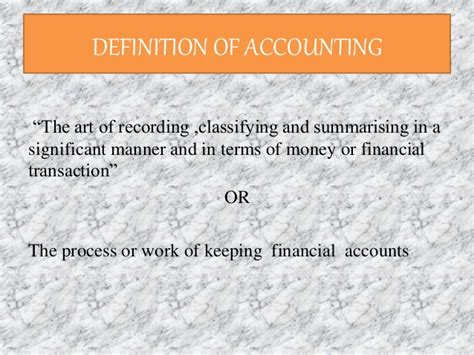 Mba Accounting Definition by Agri Mba Accounting Ppt By Sanchayan