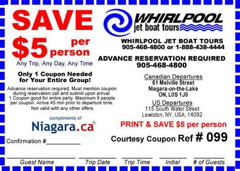 whirlpool jet boat tours coupon save 5 niagara coupons - Niagara Falls Boat Tour Canada Coupon