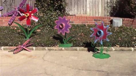 upcycled yard art ideas diy garden metal sculptures