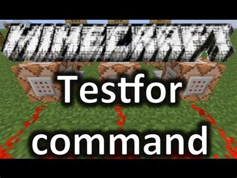 command pattern youtube minecraft testfor command tutorial youtube